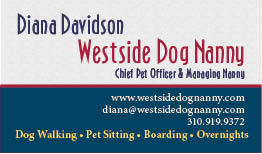 Westside Do Nanny Business Card