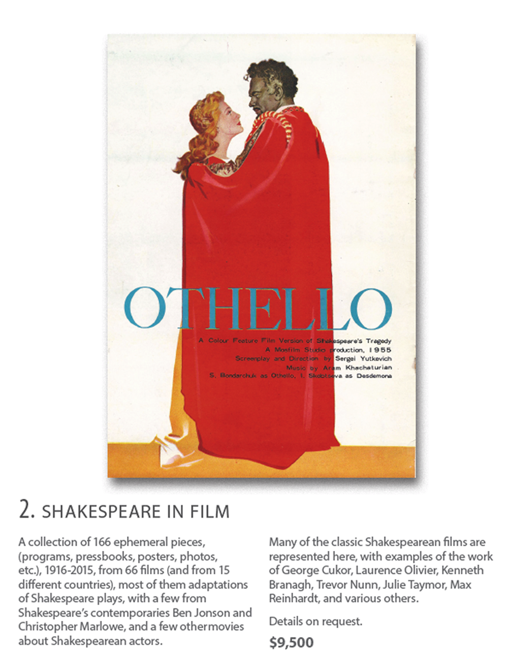 Othello - Shakespeare In Film Collection