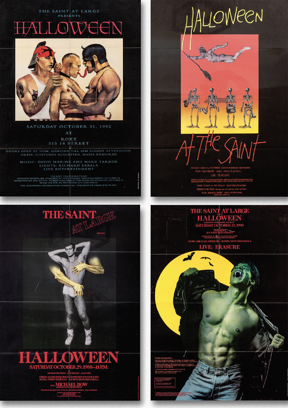 The Saint Disco, NY City , 4 Halloween Posters