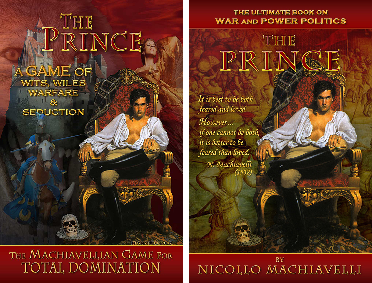 The Prince by Nicollo Machiavelli - Book Jacket & Game Cover High Arte